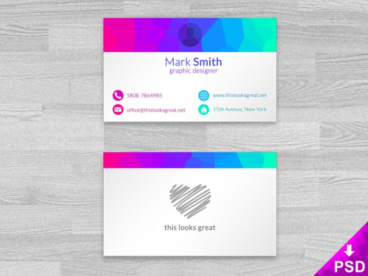 27 best free business card template psd images on pinterest free this colored business cards mock up is perfect for you and your projects showcase your business card design with this minimalist and fun mock up wajeb Image collections