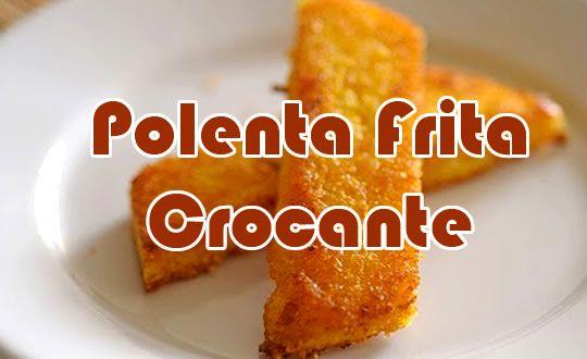 Que tal aprender o passo a passo de como fazer uma polenta frita crocante? Com uma receita simples e fácil lhe iremos ensinar.
