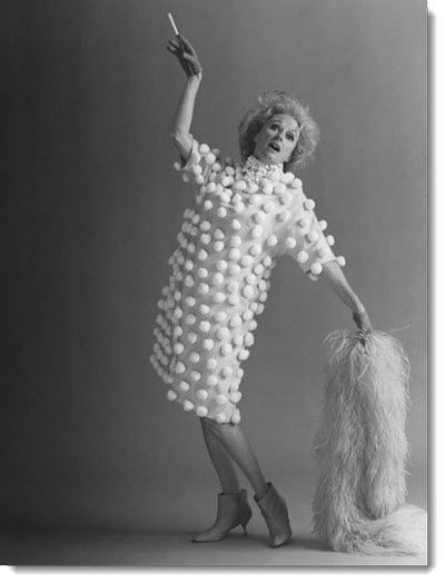 Doesn't everyone need a pom pom dress? http://www.frugal-cafe.com/public_html/frugal-blog/frugal-cafe-blogzone/wp-content/uploads/2012/08/phyllis-diller-sid-avery-photo-1978.jpg