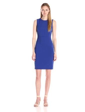 Happy mother's day! Buy the best gift for your lovely mother at the cheapest price ever! Calvin Klein Women's Seamed Sleeveless Sheath Dress
