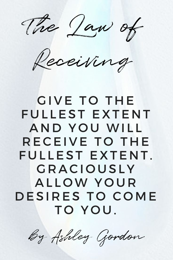 The law of receiving. Manifestation | Law of att…