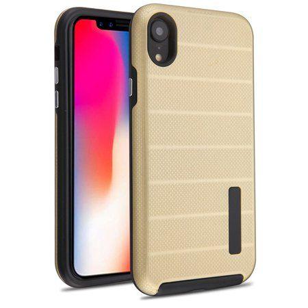 Mundaze For Apple iPhone XR Fusion Series Hybrid Case Gold