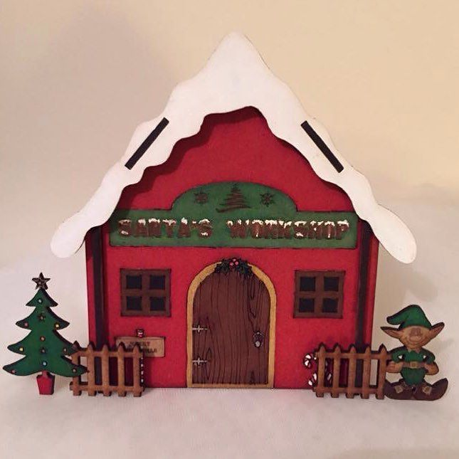 Santa's workshop. Available in kit form for you to decorate yourself or painted these are painted by hand in our studio in Rochester Kent. There is also a gingerbread house and an elf academy available to make your own little Christmas village.  http://ift.tt/2dL4IiQ https://www.etsy.com  #christmas #santasworkshop #elf #gingerbreadhouses #gingerbread #christmasdecorations #christmasvillage #elfacademy #gingerbreadhouse #handpainted #madeintheuk #smallbusiness #craft #lasercut…