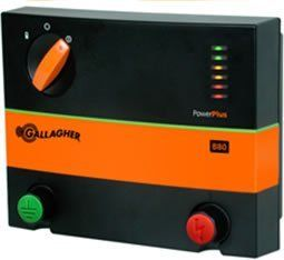 Gallagher Battery Energizer B80 by Field Guardian. $155.00. Uses 12V deep cycle rechargeable battery, e.g. Marine type (not included). No Load: 7,600 volts----500 Ohms Load: 4,700 volts. Stored Energy: 0.8 Joules. Built in battery saved feature to extend battery life. Easy to use 5 stage rotary dial to change energizer operating functions. Gallagher B80 Battery Energizer Gallagher 12 volt battery energizer. It powers up to 55 acres or 8 miles of multi-wire permanen...