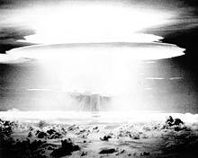 Castle Bravo mushroom cloud, Bikina Atoll, 1954