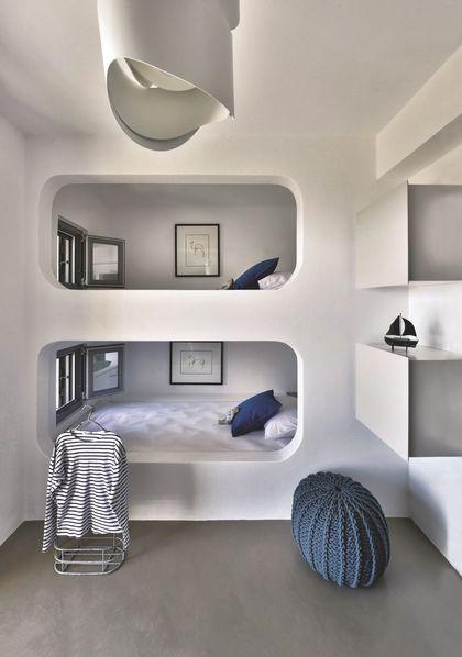 Un esprit cabine de bateau pour ce dortoir pour enfants