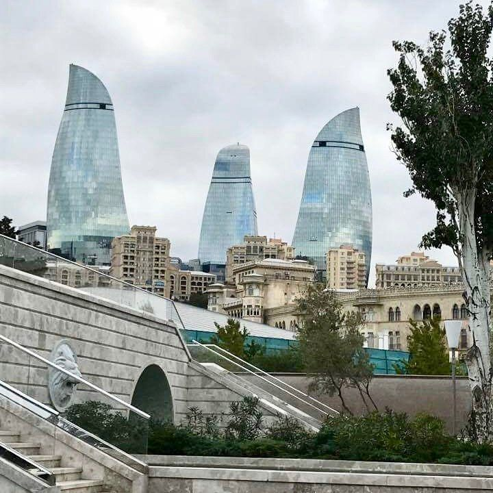 Whatever The Weather You Can Only Enjoy This View On Our Beautiful Flame Towers Outdoorcaucasus Photography Instatrav Instagram Instagram Posts Travel