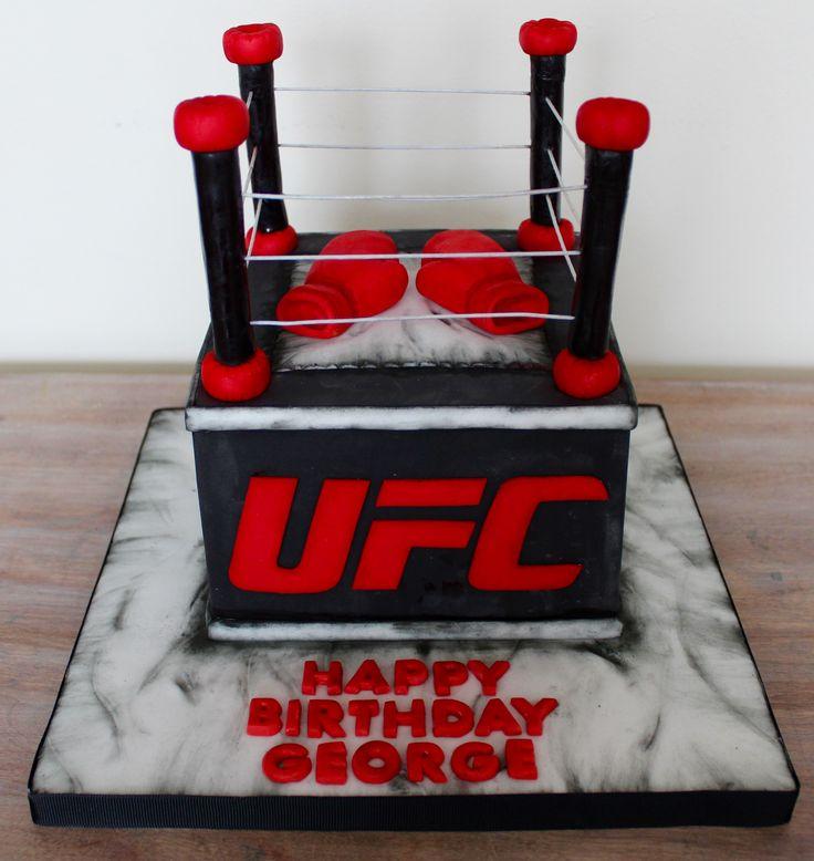 UFC boxing restling fighting ring cake