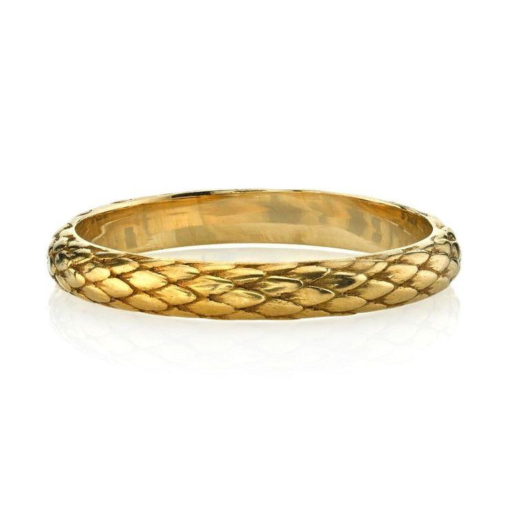 Engraved Gold Snake Eden Band