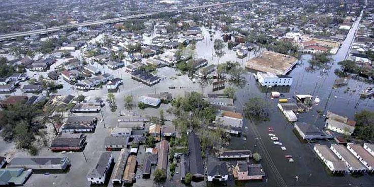 29 agosto 2005: L'uragano Katrina comincia ad abbattersi su New Orleans