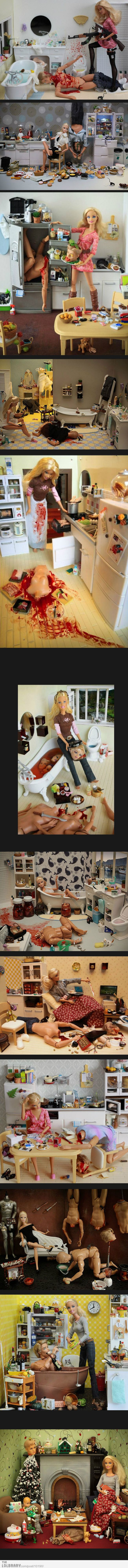 Barbie the Serial Killer.... I found a summer project.