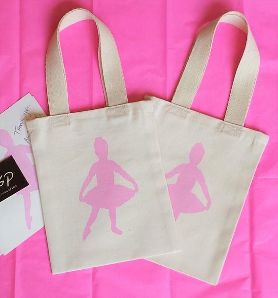 BALLET/BALLERINA GIRLS Mini Totes Cotton Favor Gift Party