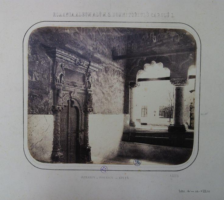 Carol Popp de Szathmary - Coltea (Colta) church porch, 1867