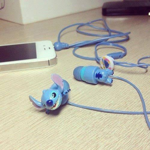 Imagen de stitch, iphone, and headphones