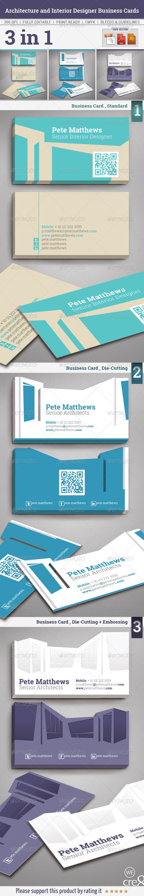 Architecture And Interior Designer Business Cards GraphicRiver Description This Is A Complete Print Ready