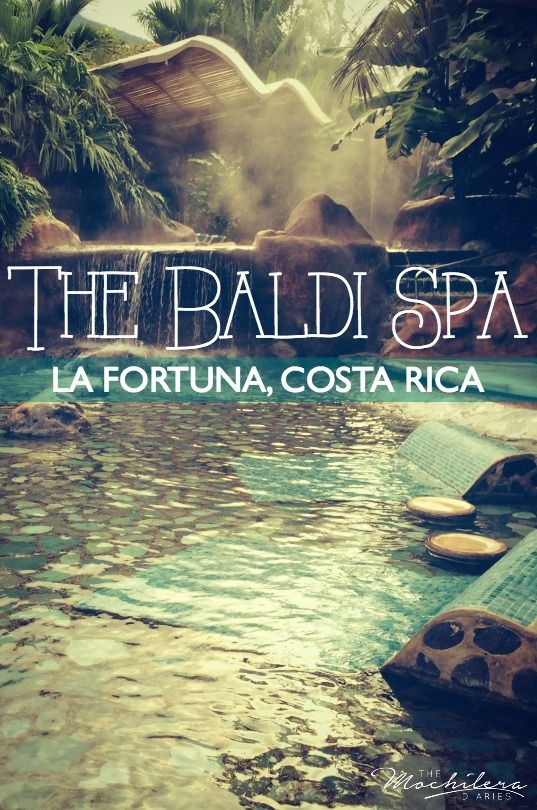 """""""Tropical paradise"""" would be an apt description of the Baldi Spa in La Fortuna, Costa Rica.  It's a sight to behold--prepare to be wowed. 
