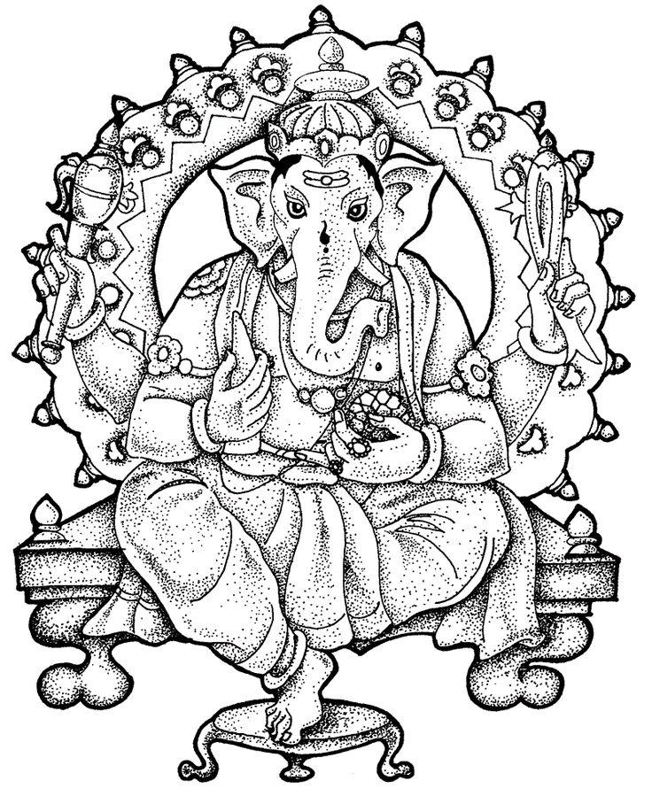 bappa ganpati coloring pages
