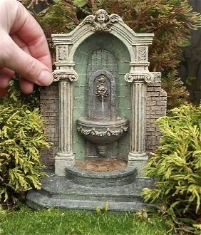 Mini fountain for fairy gardens :)                              …