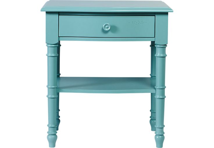 Cindy Crawford Home Seaside Blue Green Leg Nightstand.199.99. 26W x 18.5D x 28.5H. Find affordable Nightstands for your home that will complement the rest of your furniture. #iSofa #roomstogo