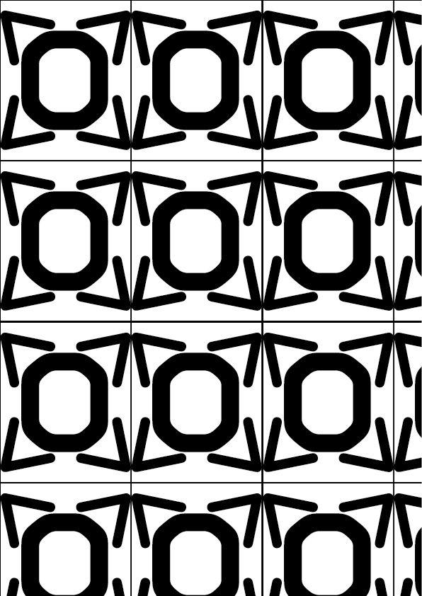 OCR-A (American type founders 1866)  GEOMETRICO  Le linee utilizzate in questo carattere sono molto precise, perciò ho creato un immagine rigida e pulita.
