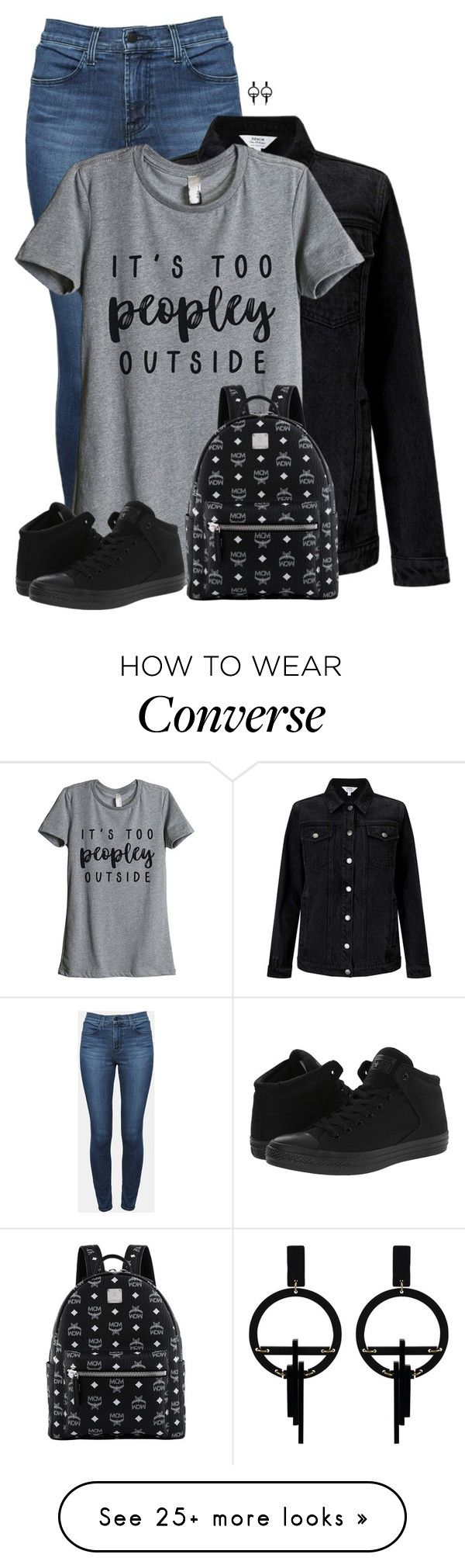 """""""MCM Small Stark Backpack"""" by sherbear1974 on Polyvore featuring Theory, Miss Selfridge, Thread Tank, Converse, MCM and Toolally"""