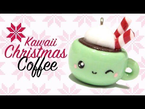 Kawaii Christmas Coffee Polymer Clay Tutorial