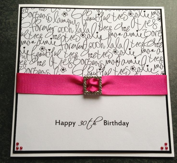 The 69 best images about My Cards – Handmade 30th Birthday Cards