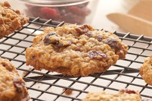 Cranberry Oat Cookies- These yummy cookies are packed with dried cranberries and chopped pecans. Try making them both crisp and chewy and see which kind you like best!