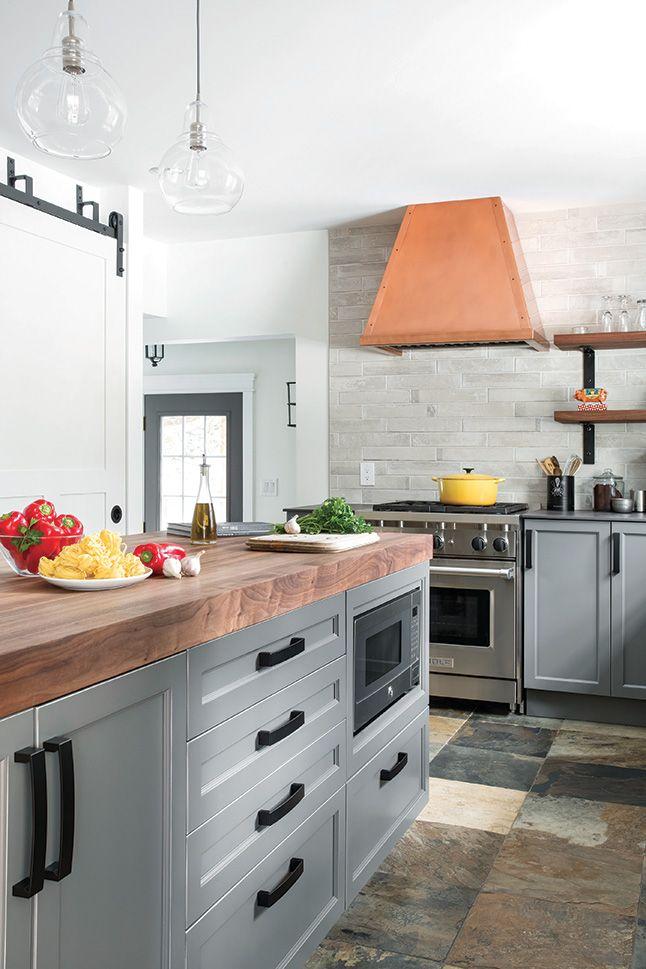 Une Cuisine Moderne Au Look Champetre Les Idees De Ma Maison Kitchen Makeover Kitchen Home Decor