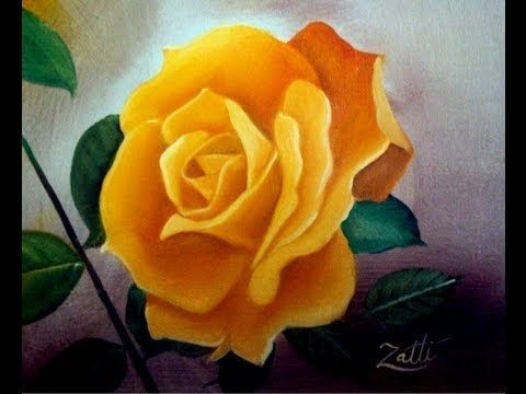 Como Pintar Flores Pintura al Oleo DIY *Flowers Oil Painting* Cuadros Modernos Oleos Pintura Facil - YouTube
