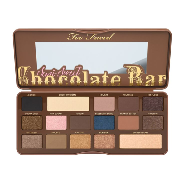 Semi-Sweet Chocolate Bar - Too Faced #newmakeup #toofaced #semisweetchocolatebaralette