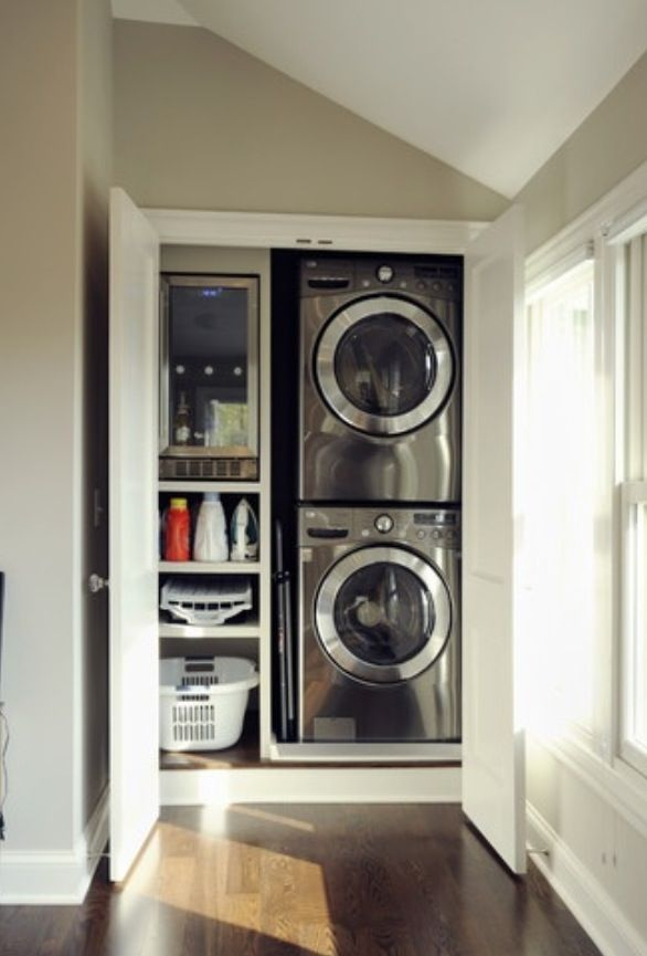 Perfect laundry setup.
