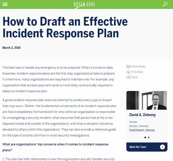 40 cyber incident response plan template in 2020 with