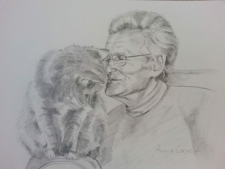 A birthday #portrait of Ken Duxbury and Muffin. Ken is the most wonderful watercolourist and famous for #painting superb skies! #drawing #art #sketch