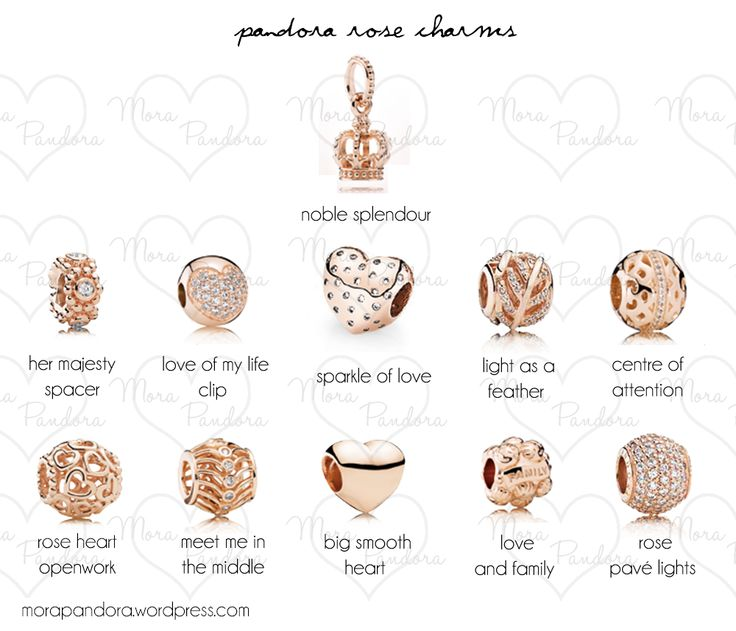 pandora rose charms mark