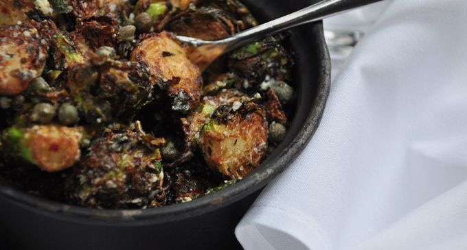 Glowbals's famous brussels sprouts, brussels sprouts recipe, holiday recipes,
