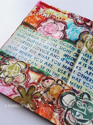 Art Journal Tutorial by Brigitta Budahazi with StencilGirl Products