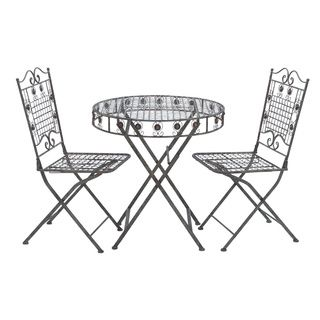 foldable bistro table set of