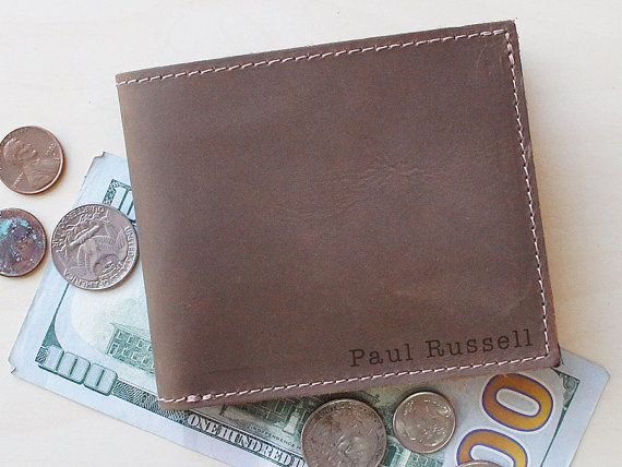Mens Bifold Wallet & Personalized Wallets by urbanwrist on Etsy