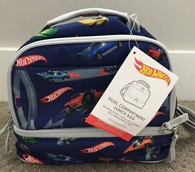 Pottery Barn Kids Hot Wheels Dual Compartment Lunch Bag