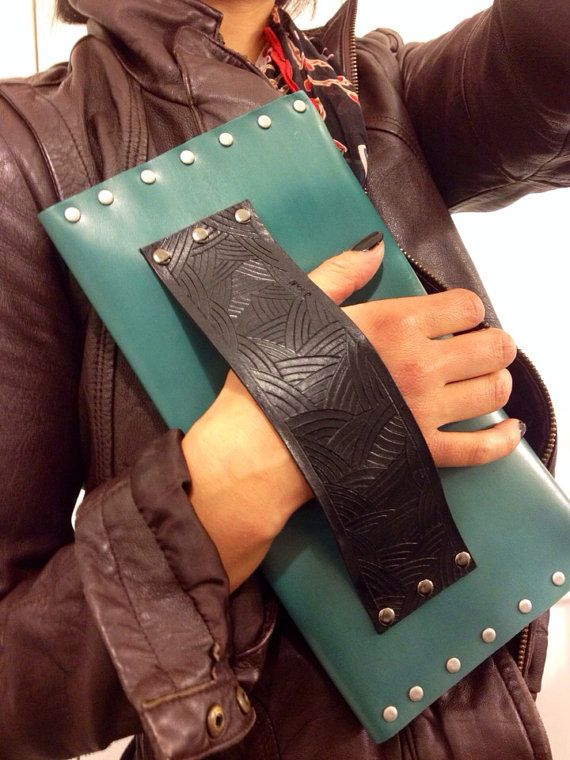 Free shipping leather clutch handmade purse by Jaewan on Etsy, $38.00