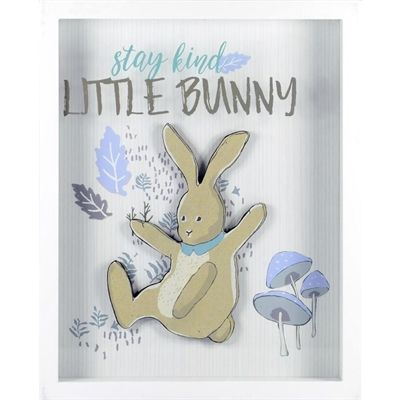 LINDEN AVE Stay Kind Little Bunny Wall Decor