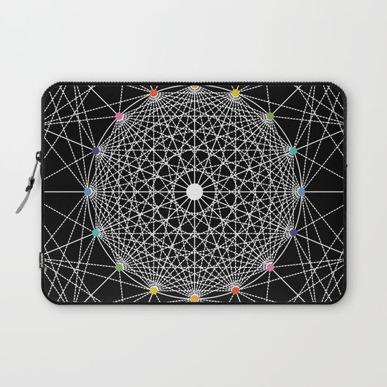 Geometric Circle Black/White/Colour laptop sleeve by Fimbis   ___________________________ #blackandwhite #monochrome #macbookpro #lanovo ___________________________  Protect your laptop with a unique Society6 Laptop Sleeve. Our form fitting, lightweight sleeves are created with high quality polyester - optimal for vibrant color absorption. The design is printed on both sides to fully showcase the artwork while keeping your gear protected.