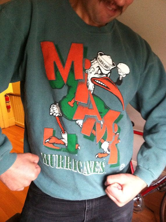 Miami Hurricanes sports team sweatshirt with pipe by appsnzerts