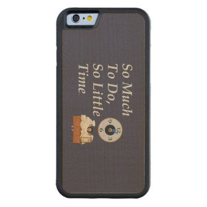 #TEE Busy Time Carved Maple iPhone 6 Bumper Case - #friday #fridays