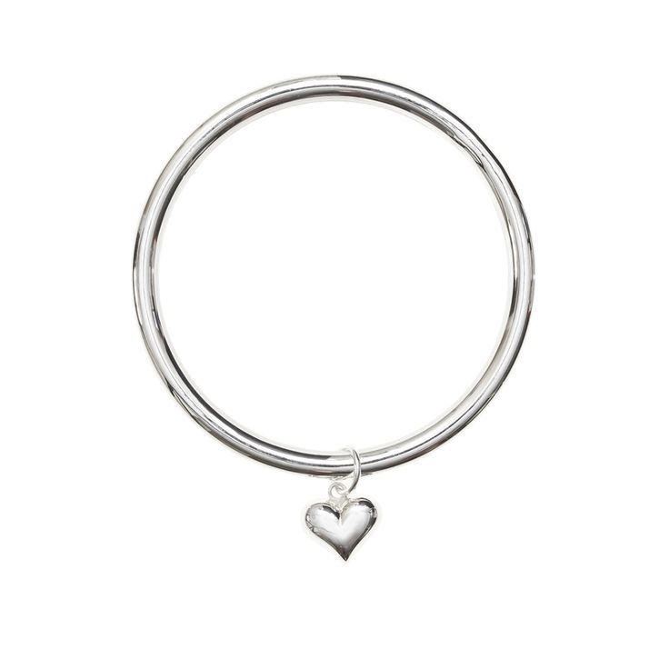 Charmed Life Bangle in Love Heart - bring some love into your life with this cute, yet statement, bangle with puffy heart. Great gift for a significant other, mum, or bff.