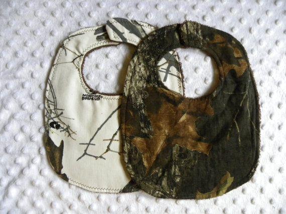 Set of 2 Baby Boy Bibs Mossy Oak Break up by StitchesBySteele, $11.50
