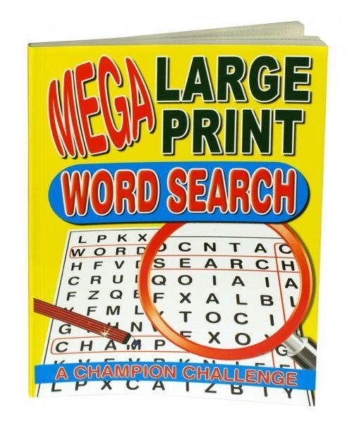 Mega large print word search book