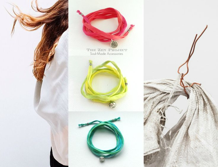 Silk wrap bracelets for Zen-minded people around the World!