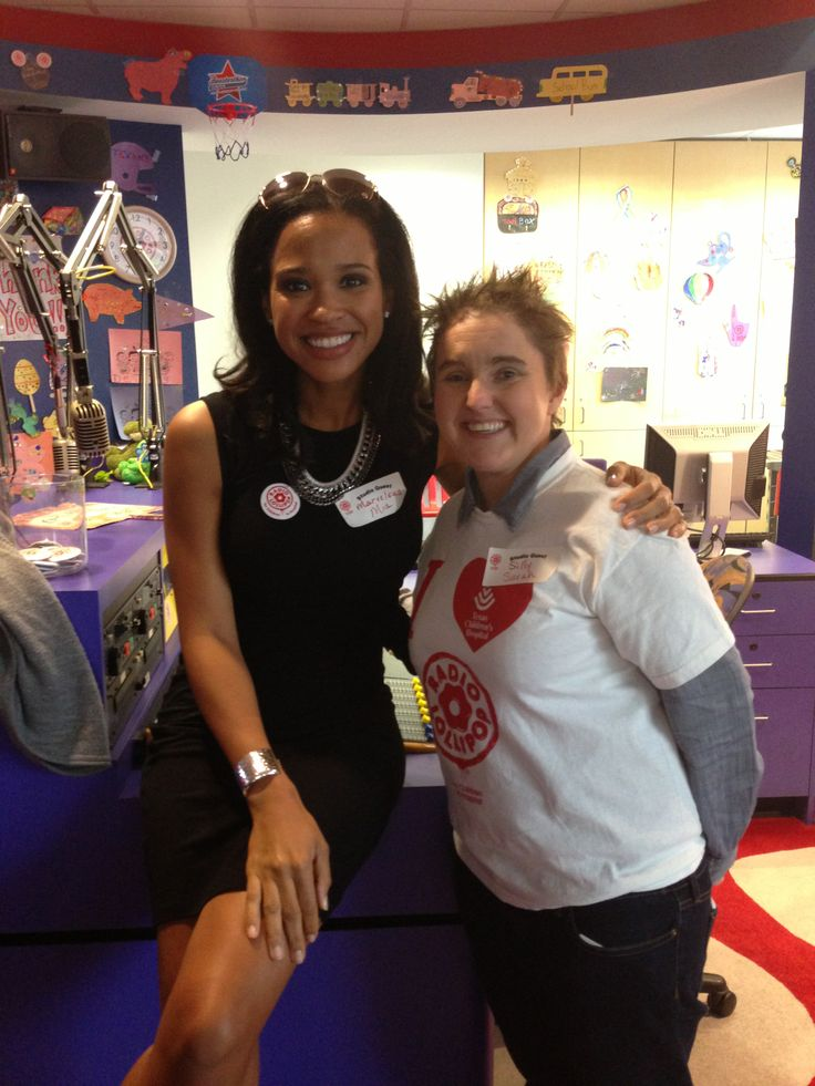 Sarah Pepper and KHOU Mia Gradney Behind the Scenes at Texas Children's Hospital's Radio Lollipop Program